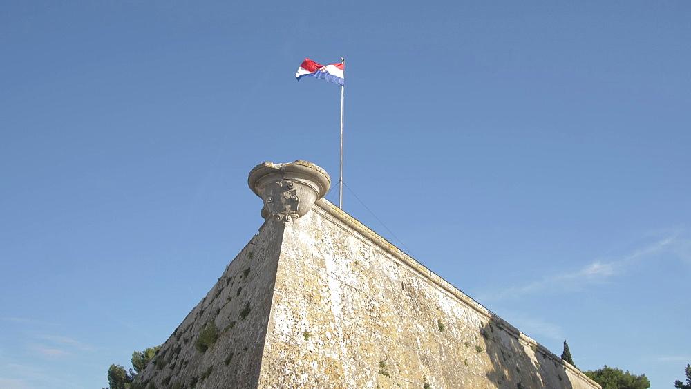 Walls of the Venetian Fortress, Pula, Istria County, Croatia, Adriatic, Europe