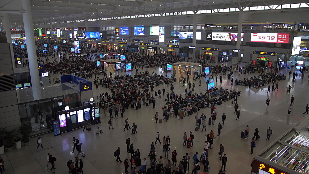 Interior of Hongqiao Railway Station, Shanghai, People's Republic of China, Asia