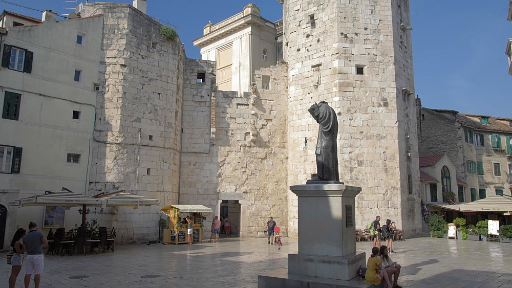 Venetian Tower in Fruit Square, Split, Dalmatian Coast, Croatia, Europe