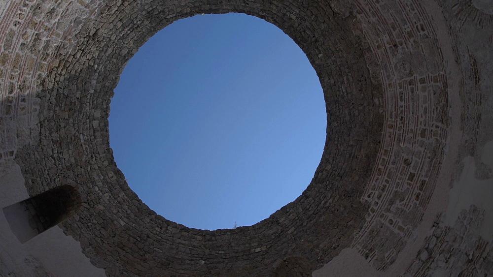 Circular shot of Diocletian's Palace, UNESCO World Heritage Site, Split, Dalmatian Coast, Croatia, Europe