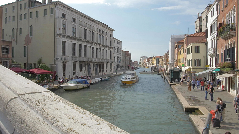Grand Canal near Santa Lucia Station, Venice, UNESCO World Heritage Site, Veneto, Italy, Europe