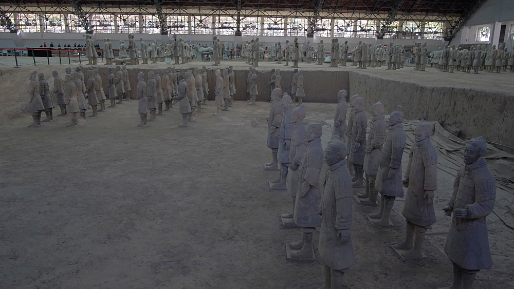 Terracotta Warriors in the Tomb Museum, UNESCO World Heritage Site, Xi'an, Shaanxi Province, People's Republic of China, Asia