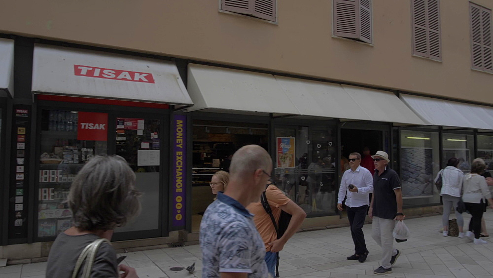 Busy shopping street, Zadar, Zadar County, Dalmatia region, Croatia, Europe