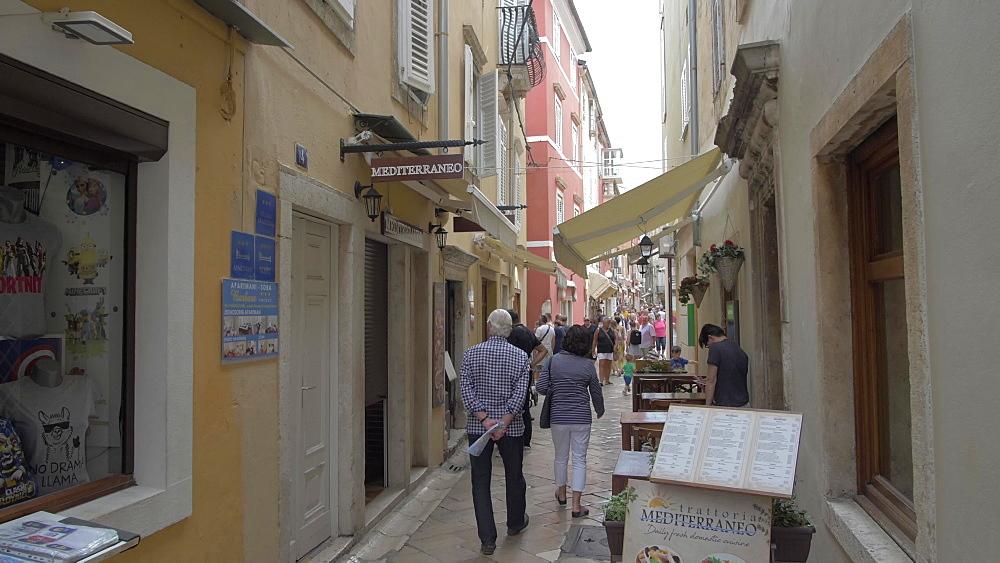 Cobbled street, Zadar, Zadar County, Dalmatia region, Croatia, Europe