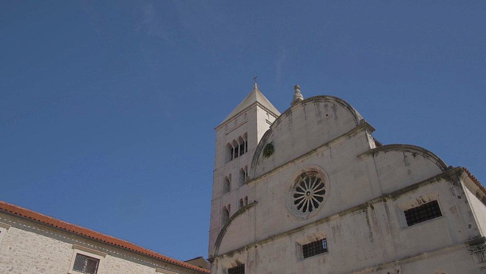 Cathedral of St. Anastasia and St. Mary's Church and visitors, Zadar, Zadar County, Dalmatia region, Croatia, Europe