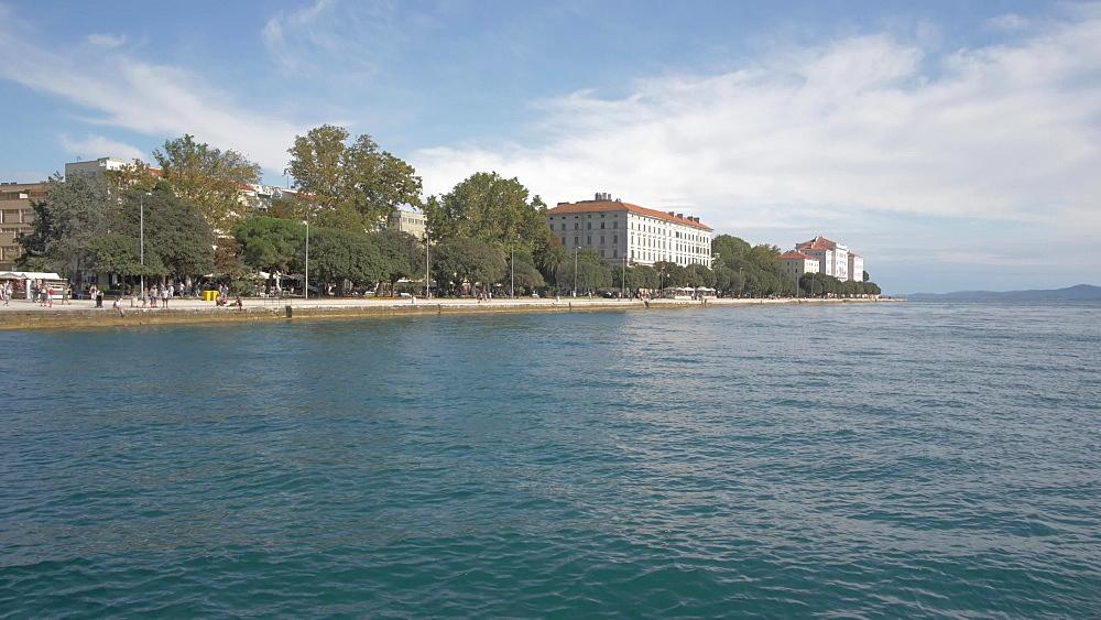 Adriatic Sea and promenade, Zadar, Zadar County, Dalmatia region, Croatia, Europe