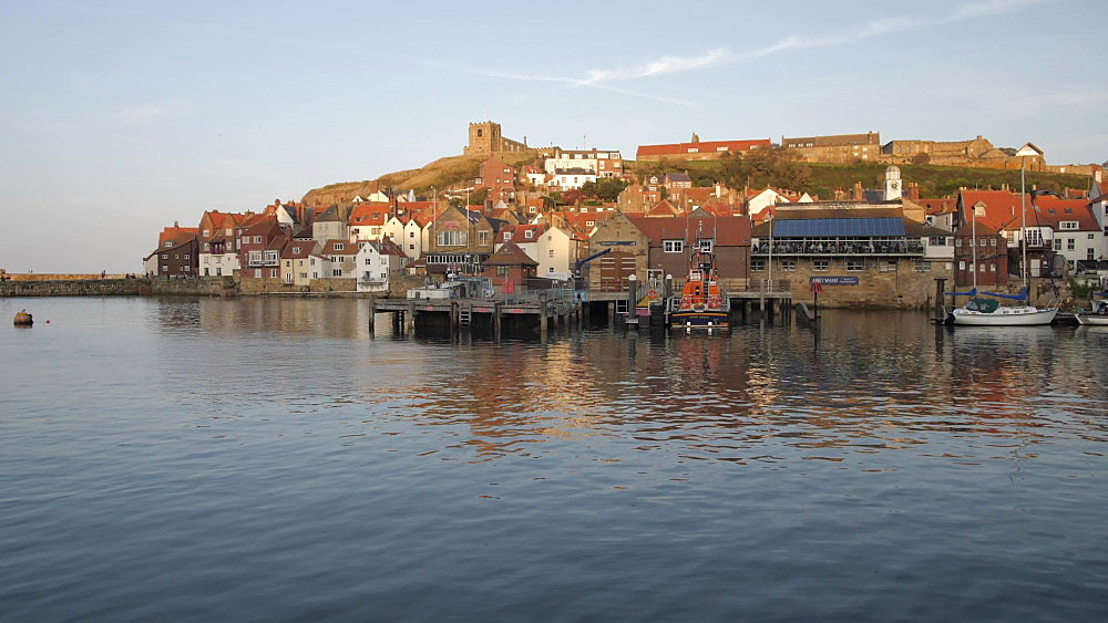 River Esk and St. Mary's Church, Whitby, North Yorkshire, England, United Kingdom, Europe