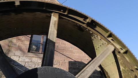 Waterwheel, Cromford, Matlock, Derbyshire, England, UK, Europe