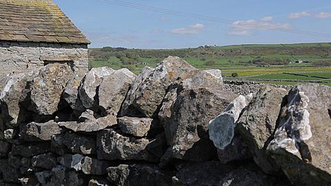 Dry Stone Walls near Foolow Village, Derbyshire, England, UK, Europe