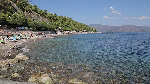Beach, Trees & Aegean Sea Iclemer, Marmaris, Anatolia, Turkey