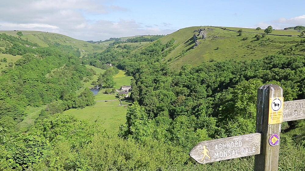 View of Mensal dale from Mensal Head, Peak District National Park, Derbyshire, England UK, Europe