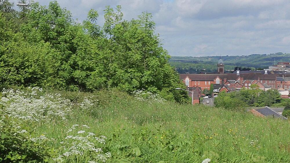 View of Chesterfield, Derbyshire, England UK, Europe