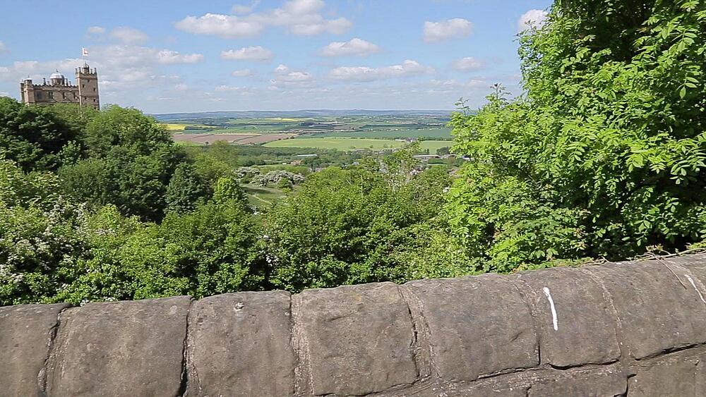 View of Bolsover Castle, Derbyshire, England UK, Europe