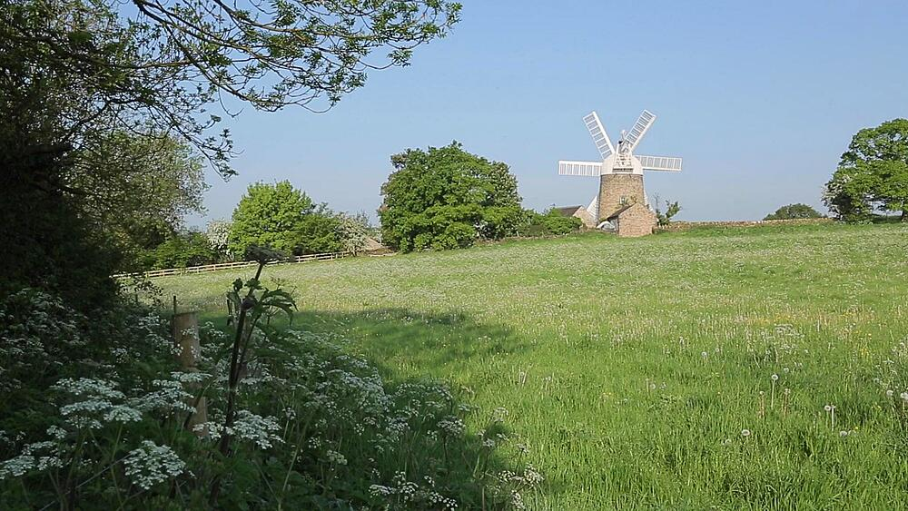 View of Heage Windmill, Derbyshire Dales, Derbyshire, England UK, Europe