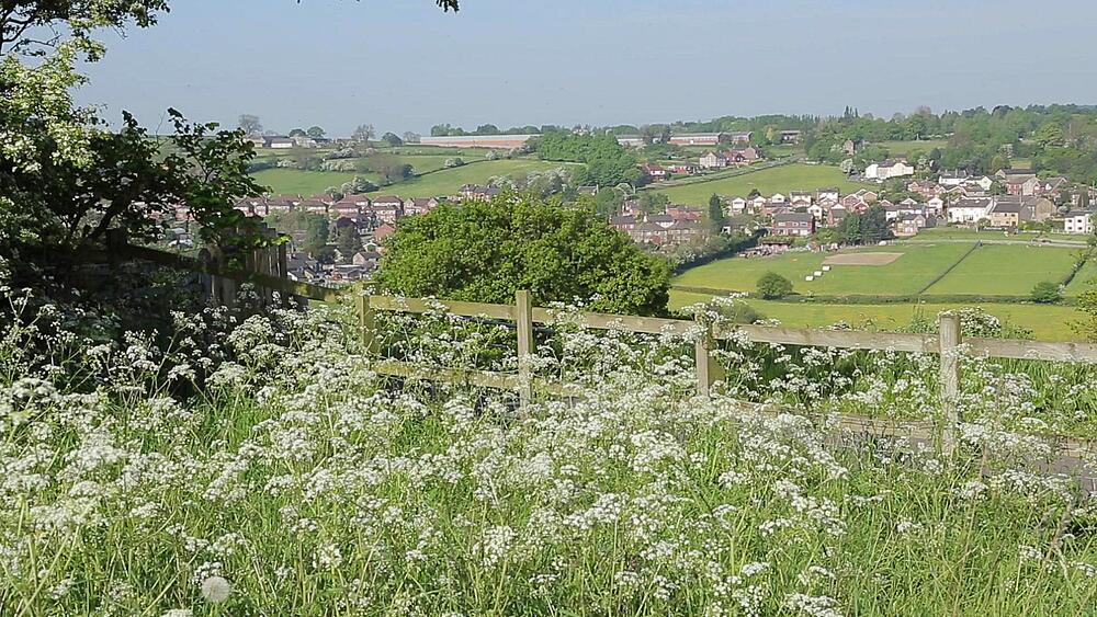 View of Heage Village, Derbyshire Dales, Derbyshire, England UK, Europe