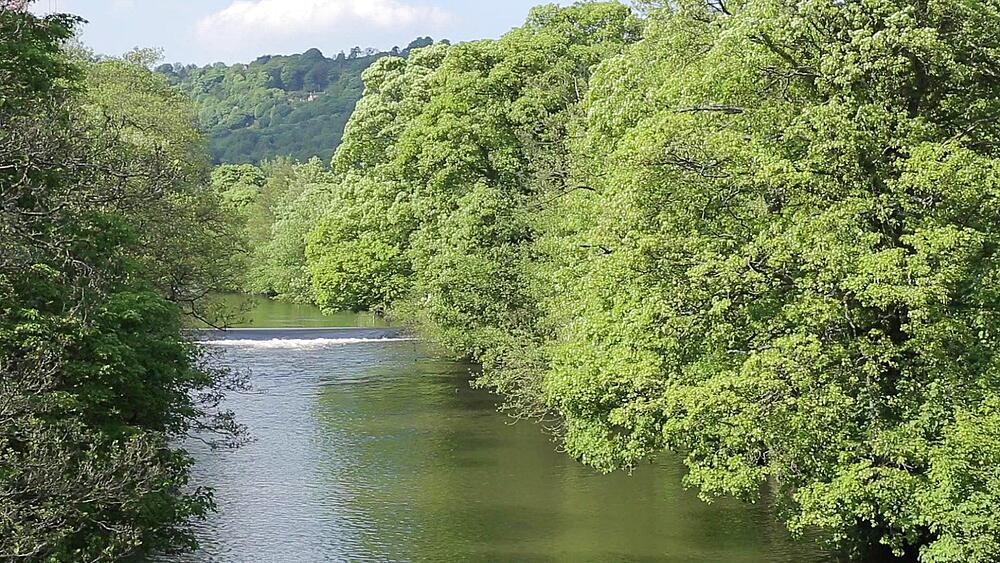 River Derwent near Cromford, Derbyshire Dales, Derbyshire, England, UK, Europe