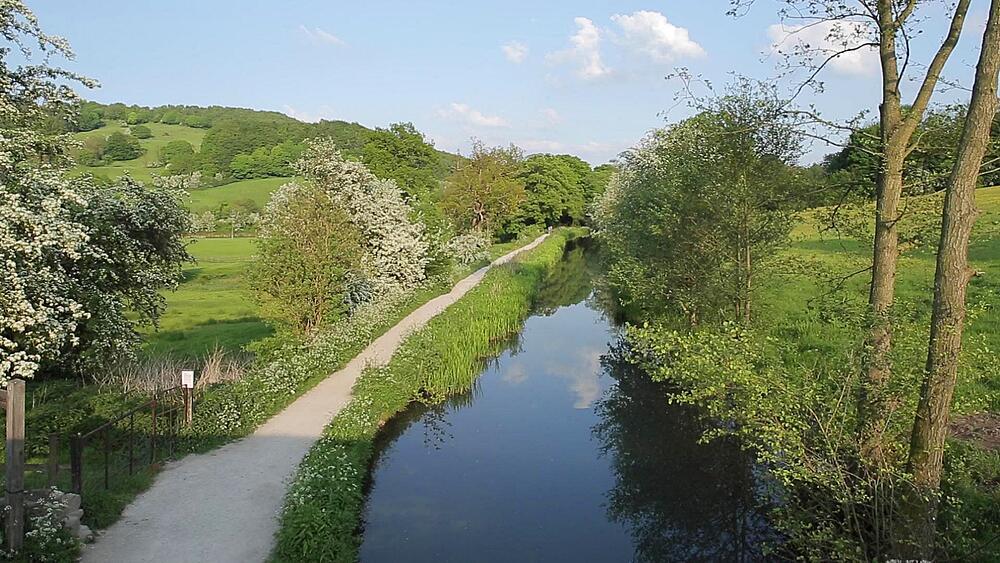 Cromford Canal, Cromford, Derbyshire Dales, Derbyshire, England, UK, Europe