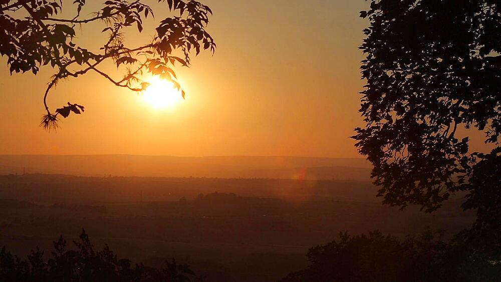 Sunset near Chesterfield, Derbyshire, England, UK, Europe