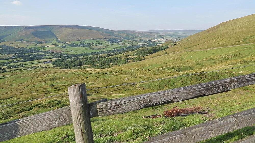 View of Edale Valley, Derbyshire, England, UK, Europe