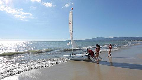 Beach Scene near Puerto Vallarta, Nayarit, Mexico, North America