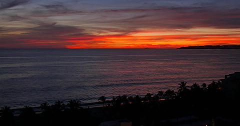 Sunset on the Beach, Puerto Vallarta, Nayarit, Mexico, North America