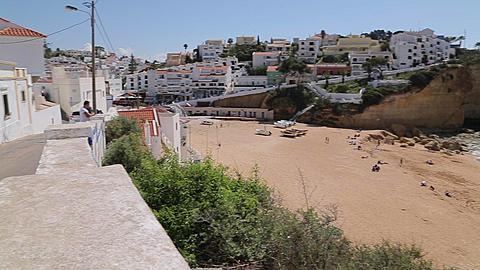 View of the Beach and Town, Carvoeiro, Algarve, Portugal, Europe