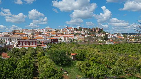 View of in Old Town Time Lapse, Silves, Algarve, Portugal, Europe
