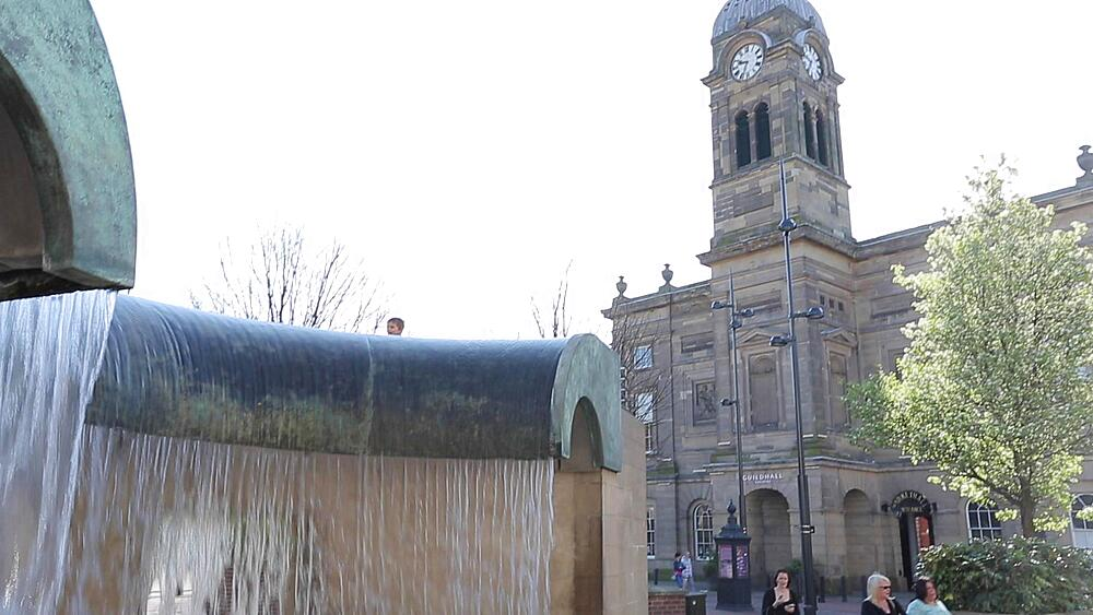 The Guildhall & Fountain, Derby Derbyshire, England, UK, Europe