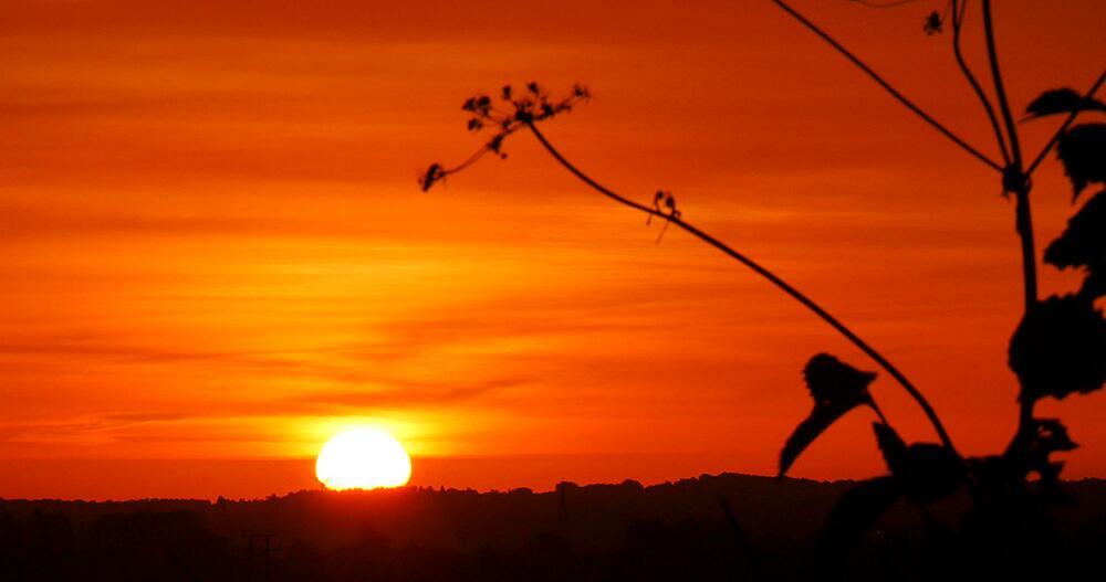 Sunrise in Nottinghamshire, Nottinghamshire, England, United Kingdom, Europe