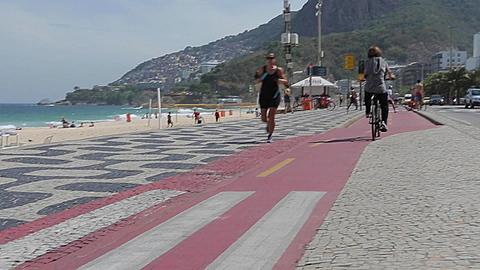 Avenue Atlantico & Leblon Beach, Rio de Janeiro, Brazil, South America