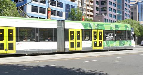 Tram and Princess Theatre on Spring Street, Melbourne, Victoria, Australia
