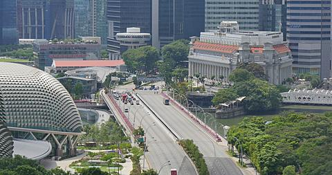 Esplanade Drive and Central Business District, Singapore, South Asia, Asia