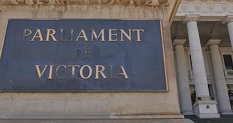 Parliament House on Spring Street, Melbourne, Victoria, Australia