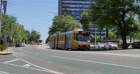 Tram on Spring Street, Melbourne, Victoria, Australia