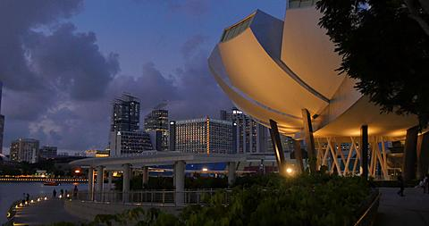 Art and Science Museum & Central Business District, Marina Bay, Singapore, South Asia, Asia