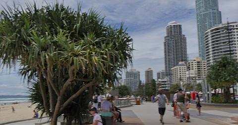 The Esplanade and Beach, Surfers Paradise, Gold Coast, Queensland, Australia