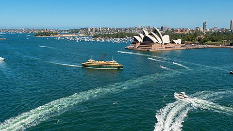 Sydney Opera House and Harbour, Sydney, New South Wales, Australia  - 844-8346