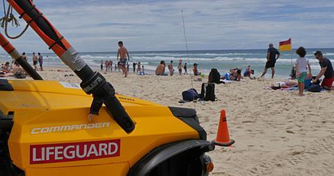 Lifeguard Station on the Beach, Surfers Paradise, Gold Coast, Queensland, Australia