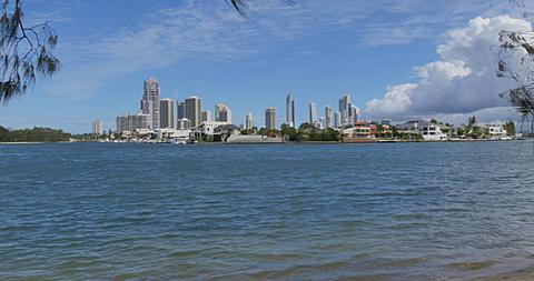 View from James Overell Park, Surfers Paradise, Gold Coast, Queensland, Australia