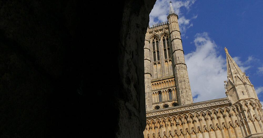 View of Cathedral, Lincoln, Lincolnshire, England, UK, Europe