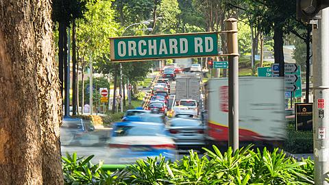 Orchard Road Time Lapse, Singapore, South Asia, Asia