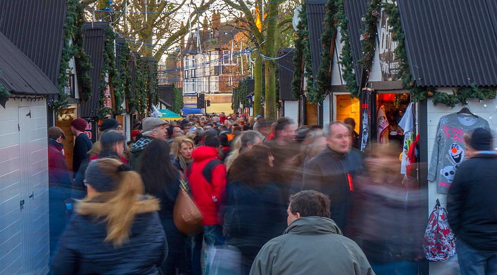 Busy Christmas Market, York, Yorkshire, England, United Kingdom, Europe