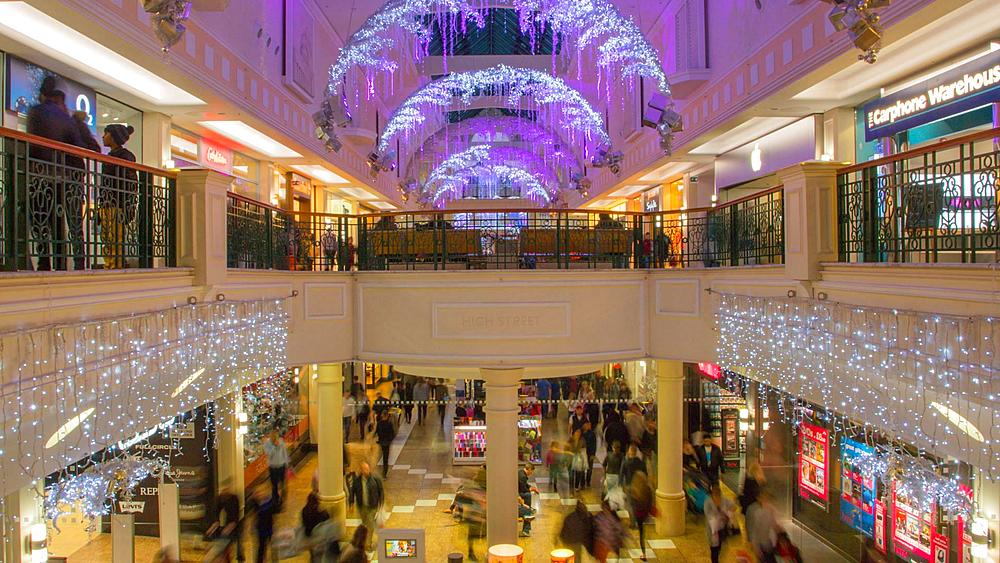 Meadowhall Shopping Centre at Christmas, Sheffield, South Yorkshire, England, United Kingdom, Europe