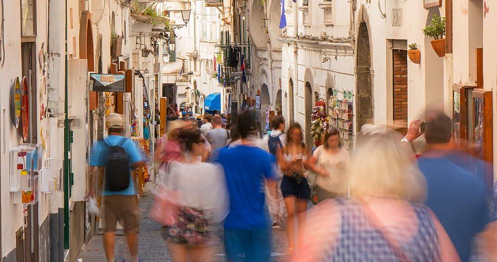Amalfi side street, Amalfi, Costiera Amalfitana (Amalfi Coast), UNESCO World Heritage Site, Campania, Italy, Europe