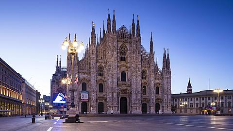 Night to day TL of the Duomo in Milan, Italy