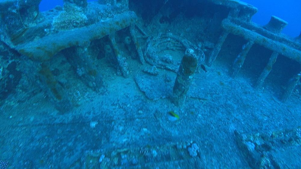 anchor chain on Thistlegorm, Red sea, Egypt - 958-801