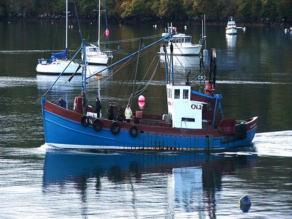 Fishing boat. Tobermory. Mull. UK. 23/07/08