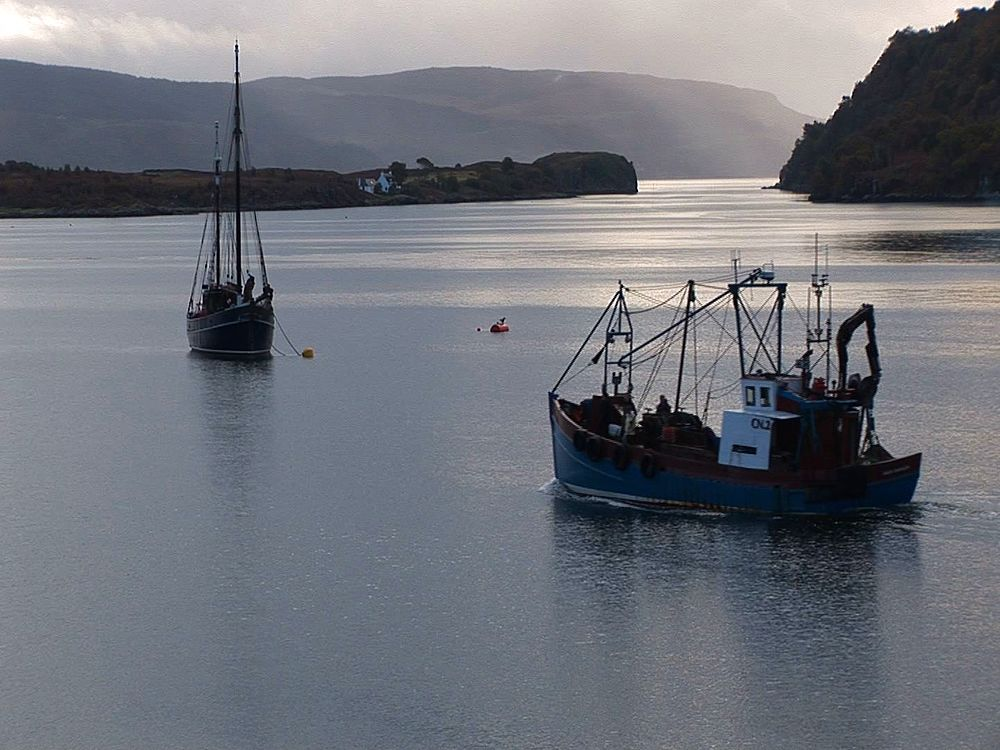 Evening scenic, fishing boat. Tobermory. Mull. UK. 23/07/08