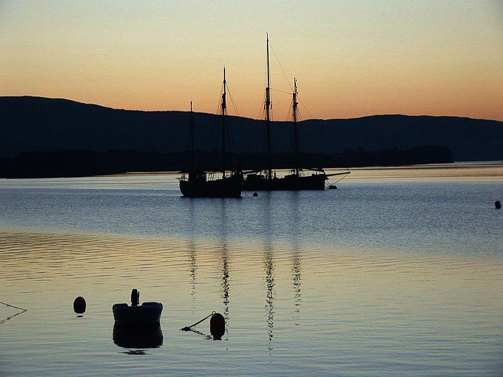 Yachts at sunset. Tobermory. Mull. UK. 24/07/08