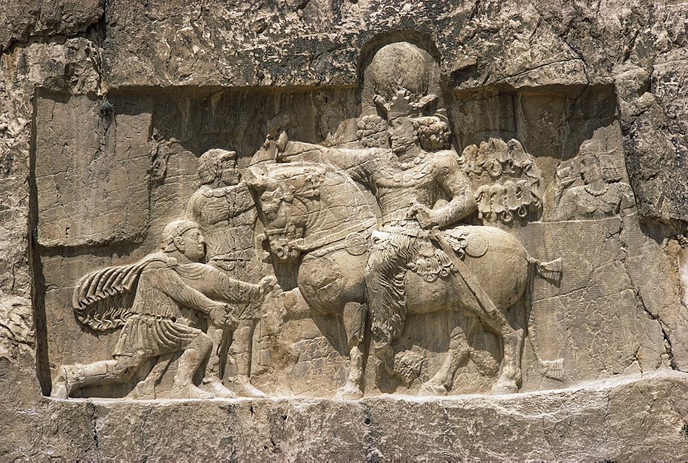 Valerian before Shahpur, 241 to 272 AD, Naqsh-e Rustam, Iran, Middle East